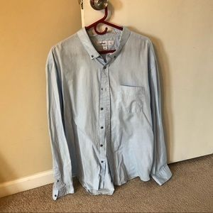 💜 Old Navy Slim Button Down Long Sleeve 3XL Blue